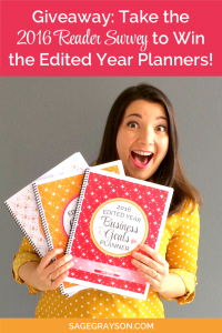 Giveaway: Take the 2016 Reader Survey to Win the Edited Year Planners!