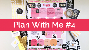 Plan With Me #4: Edited Year Planner; Black, Gold, and Pink