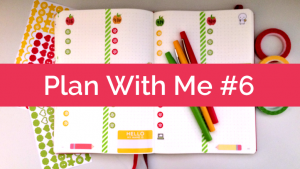 Plan With Me #6: Bullet Journal, Back-to-School Apples