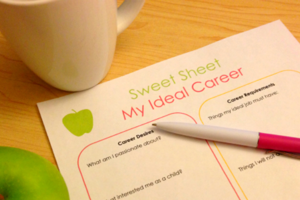 My Ideal Career sweet sheet