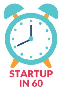 Startup In 60 logo white
