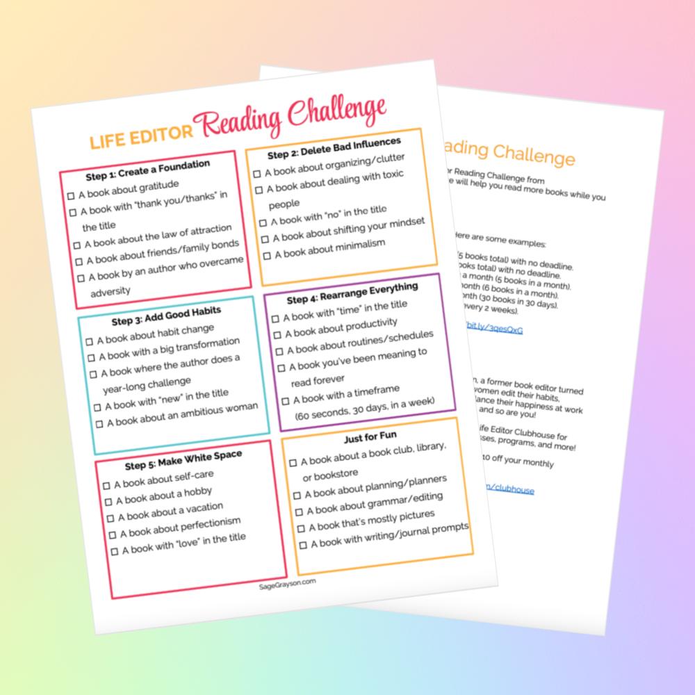 Life Editor Reading Challenge image
